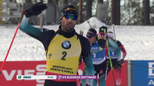 """We're going to miss this battle"" - Fourcade wins last race as Boe takes tites title"