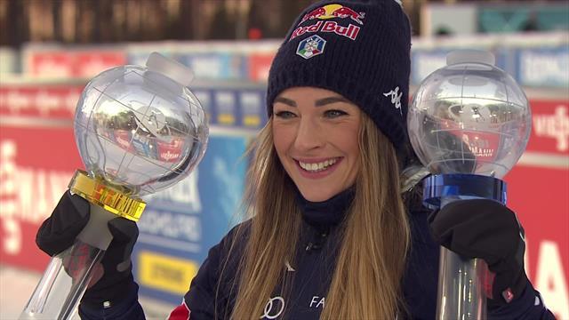 Dorothea Wierer receives her globes