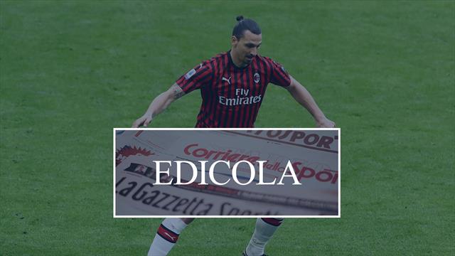 Edicola: Ibrahimovic-Milan, il grande gelo. Lautaro-Barcellona: affare da 150 milioni