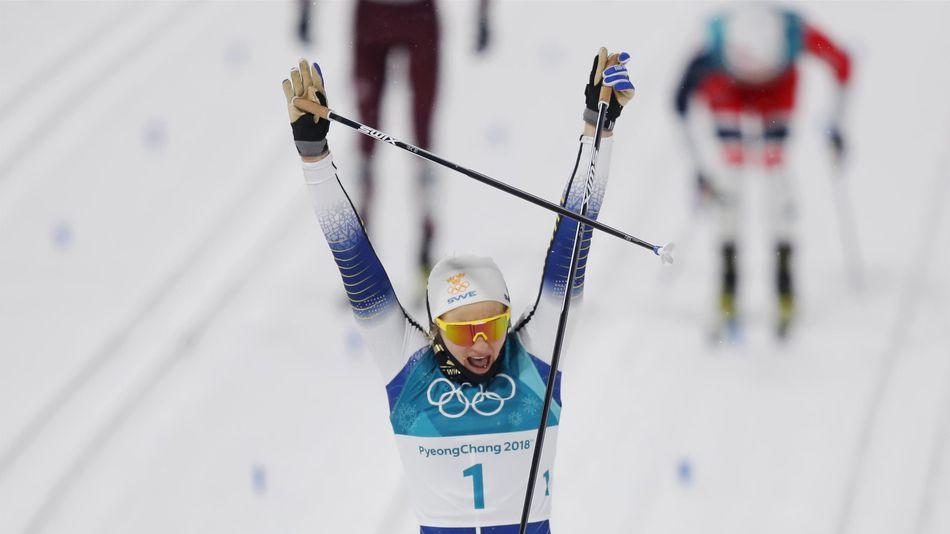 Победный финиш Стины Нильссон на ОИ-2018