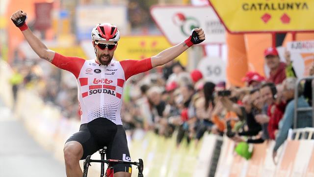 Un anno fa: fuga vincente per Thomas De Gendt nella prima tappa della Volta Catalunya