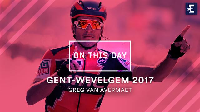 Tal día como hoy: Van Avermaet ganó con maestría la Gante-Wevelgem-2017