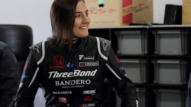 Tatiana Calderón prueba el Super Fórmula en Fuji