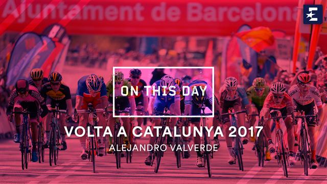 Vandaag in 2017 | Hattrick en eindklassement voor Valverde in Ronde van Catalonië