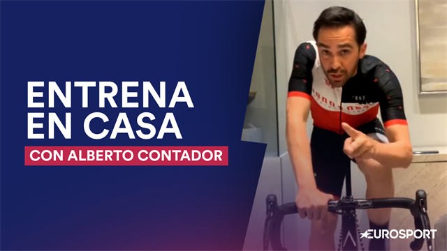 Entrena en casa con Contador: Revive su clase magistral de ciclismo indoor