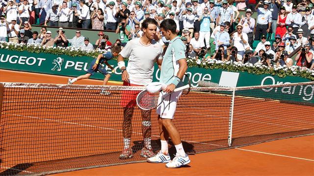 Nadal, Djokovic y el toque en la red del serbio que nadie olvida
