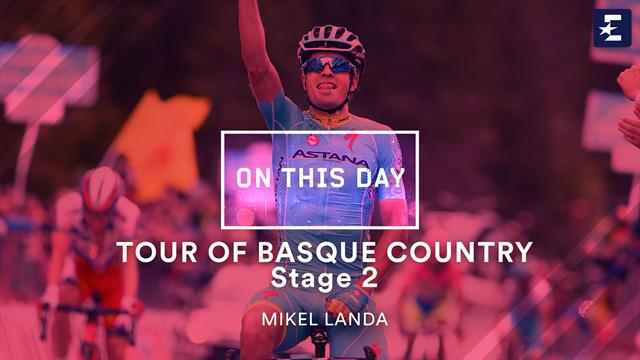 On This Day: Mikel Landa powers to hilltop win at Tour of Basque Country