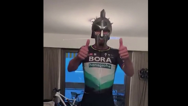 Peter Sagan delivers #StayHome message in the most Peter Sagan way