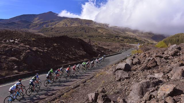 A cyclist's eye view - Every inch of the Mount Etna climb