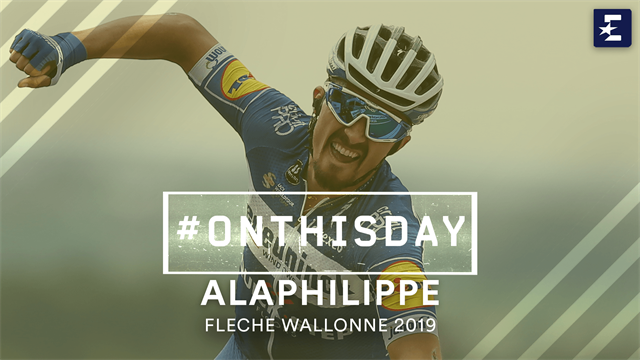#OnThisDay: Julian Alaphilippe takes victory at La Flèche Wallonne
