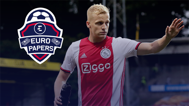 Van de Beek 'can choose between United, Real and Juve' - Euro Papers