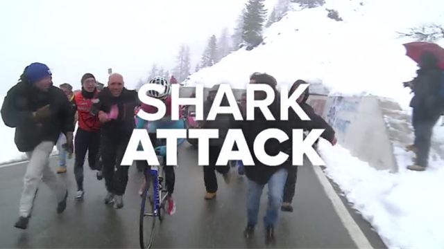 Shark attacks, appalling weather, and a summit finish – relive Stage 20 of the 2013 Giro