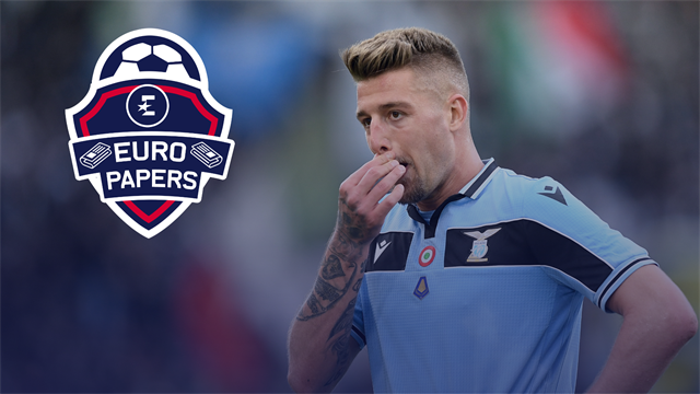 United and PSG suffer crushing blow in pursuit of Lazio star - Euro Papers