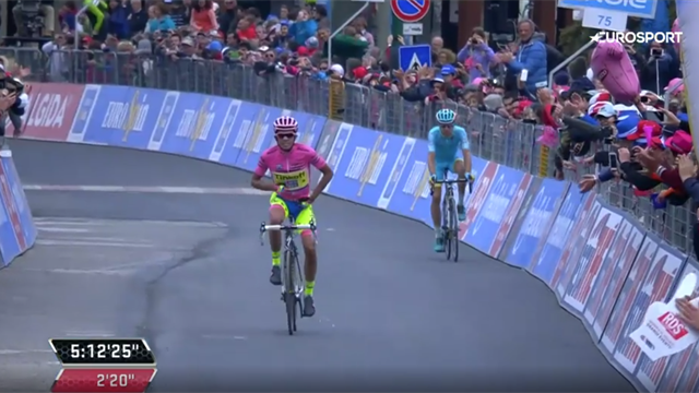 Giro Classics: 'The strongest man' - Contador the champion on Stage 20 in 2015