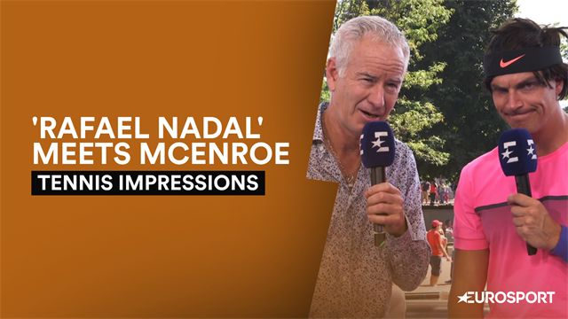 'How do I beat Roger?' - 'Rafa Nadal' interviews John McEnroe