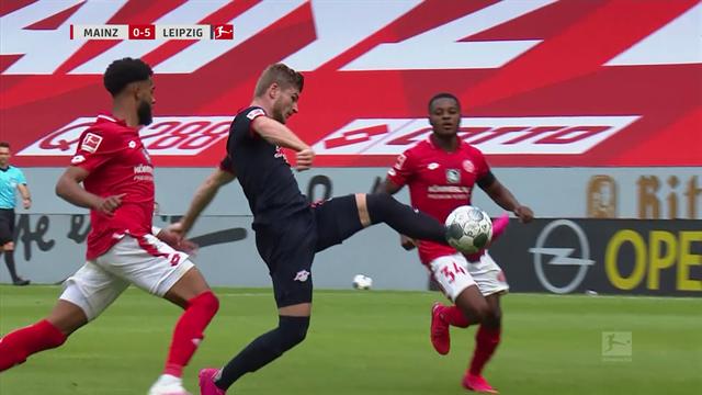 Werner fires hat-trick as Leipzig thrash Mainz as Ausburg deepen Schalke's woes