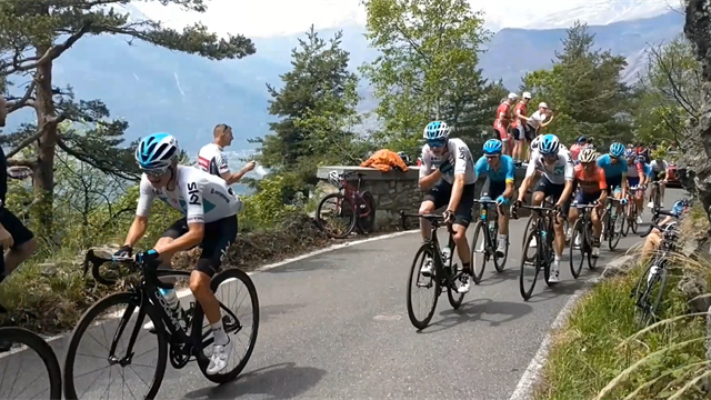Roadside footage sees Chris Froome shout into radio as Finestre attack approaches