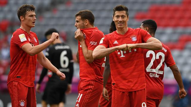 Highlights: Bayern Munich go 10 points clear with Fortuna Dusseldorf thrashing