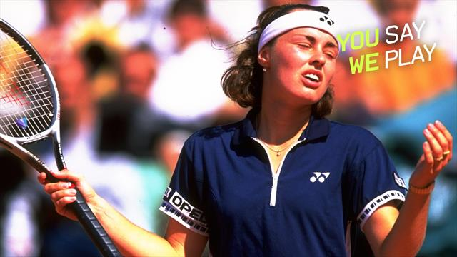 #YouSayWePlay - Hingis serves underarm TWICE against Graf