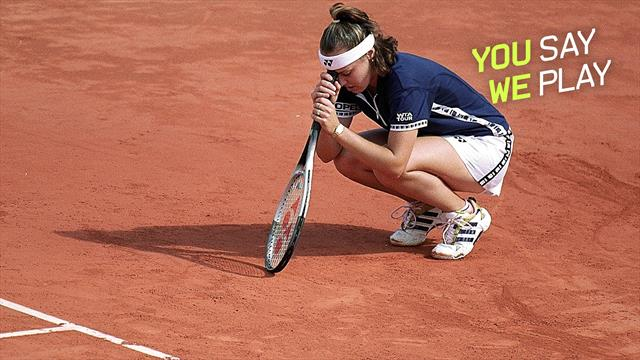 #YouSayWePlay - Hingis cries after brutal loss to Graf in 1999