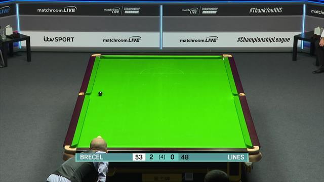 Snooker Championship League: Luca Brecel enchufa la bola negra para ganar el partido