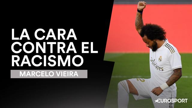 Marcelo y su celebración a lo Kaepernick: el rostro contra el racismo del fútbol español