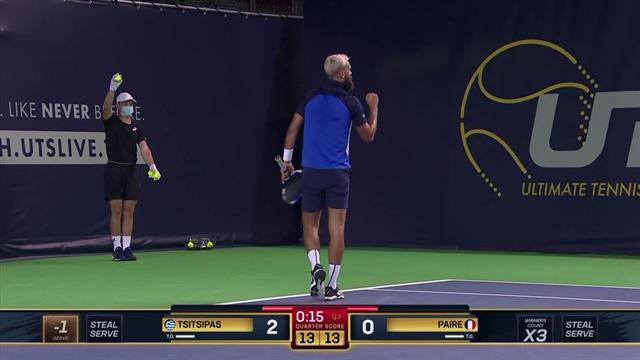 UTS: Benoit Paire se saca un puntazo ante Tsitsipas