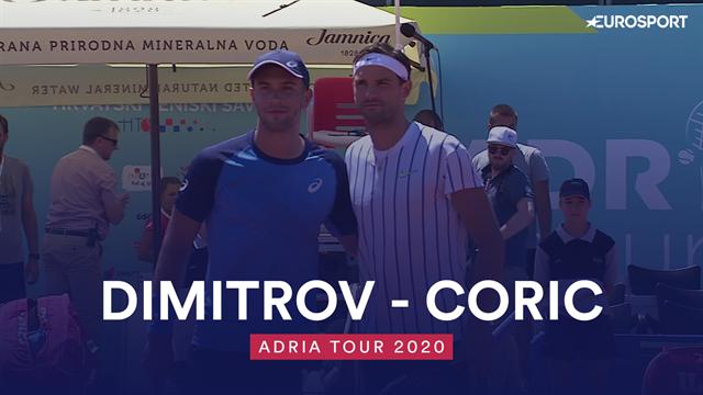 Highlights: Grigor Dimitrov struggles in Borna Coric defeat