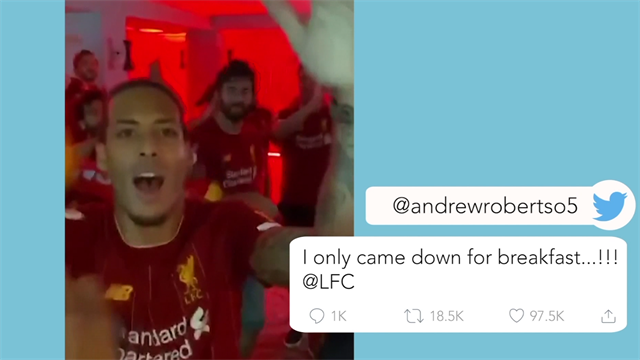 Watch: Liverpool players celebrate to 'Show Me Love'