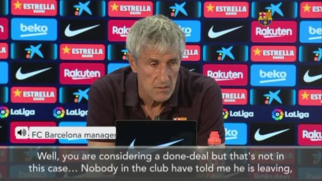 'Nobody in the club told me Arthur is leaving' – Quique Setien