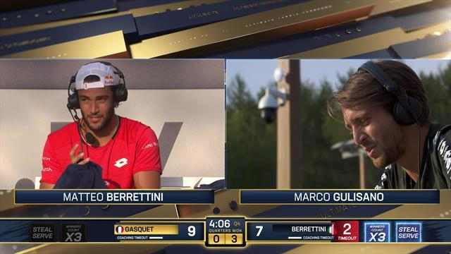 'I don't get why you are scared to call a timeout' – Matteo Berrettini to coach Marco Gulisano