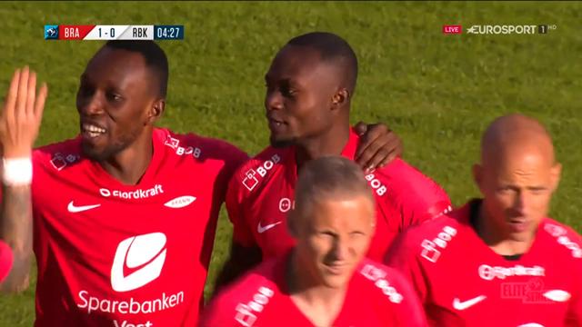 Eliteserien: La dupla africana Bamba-Koomson madruga en el gol del Brann