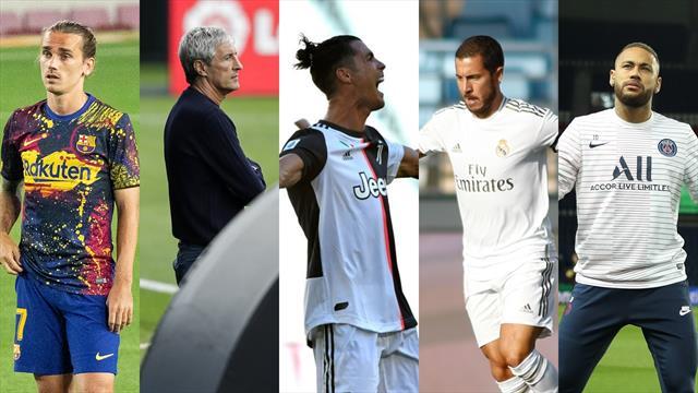 Griezmann, Setién, Cristiano, Hazard y Neymar, los nombres del día