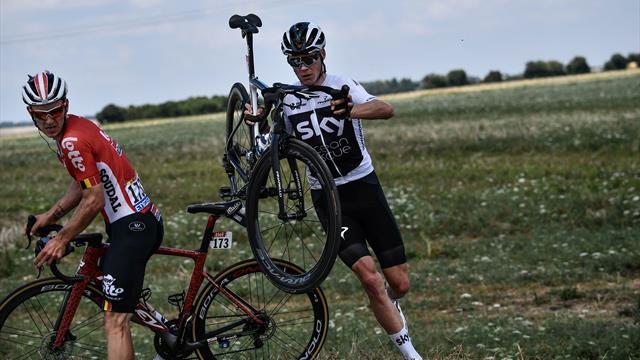 Tal día como hoy: No se puede empezar peor un Tour de Francia, la caída de Froome en 2017