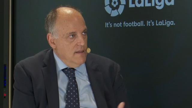 """Javier Tebas: """"No está ni entre mis diez prioridades jugar fuera de España"""""""