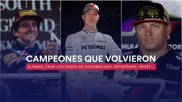 Se retiraron para volver: Fernando Alonso, el último campeón de regreso