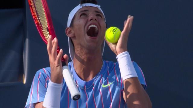 Ultimate Tennis Showdown: Popyrin, entre el enfado y la risa, no se creía la decisión del árbitro