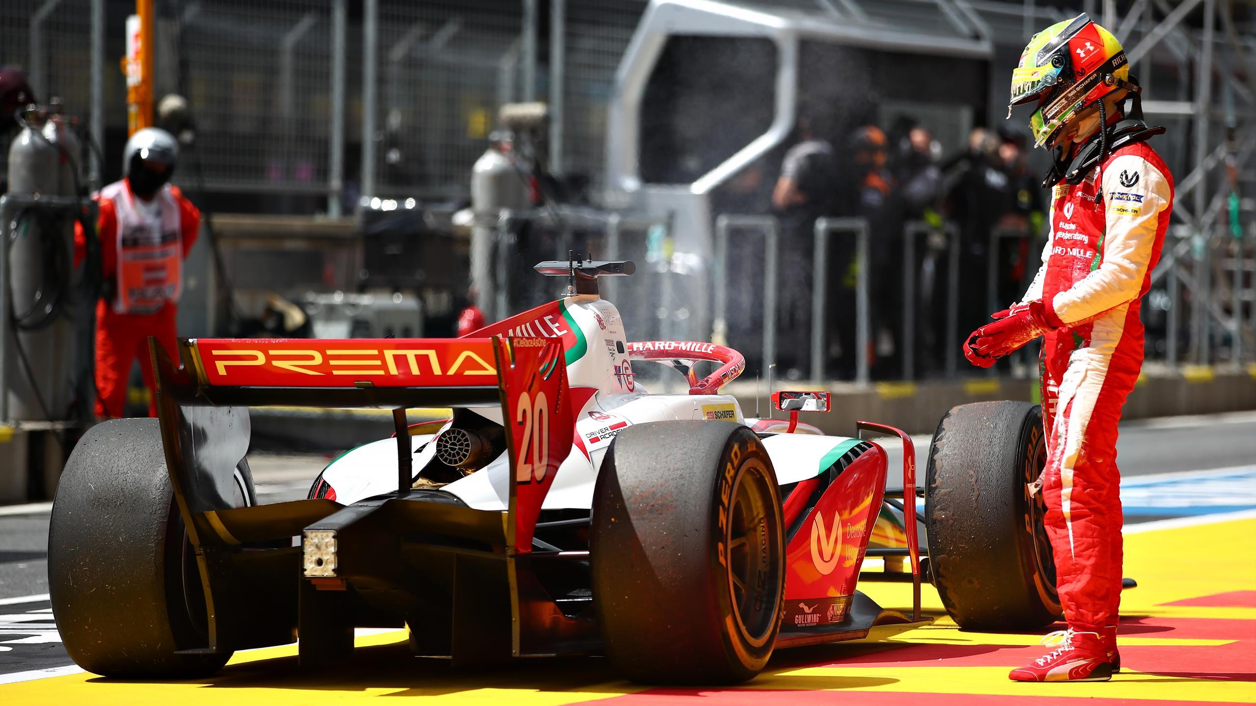 Mick Schumacher Loses Podium After Fire Extinguisher Goes Off In Cockpit Eurosport
