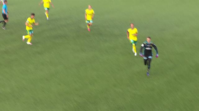 WATCH - Goalkeeper curls home beautiful free-kick in Norway
