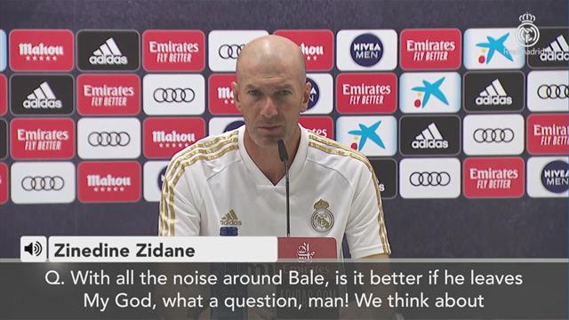 'My God, what a question man' - Gareth Bale question leaves Zinedine Zidane very annoyed