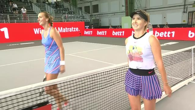 Tennis Exhibition Berlin: Elina Svitolina beats Petra Kvitova in the final