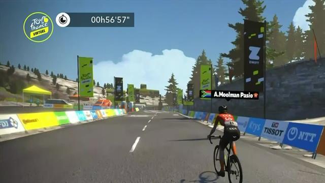 Tour de Francia Virtual: Ashleigh Moolman Pasio vence con un sensacional esprint final
