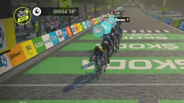 Lauren Stephens clinches final stage of virtual Tour de France