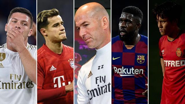 Jović, Coutinho, Zidane, Umtiti y Kubo, los nombres del día
