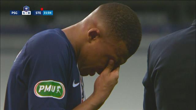 Kylian Mbappe limps off in tears, prompts a PSG mass brawl