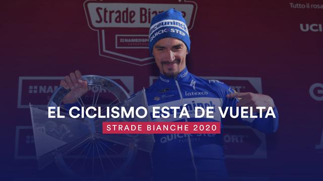 Grandes figuras y sterrato en el regreso del ciclismo a Eurosport: así se presenta la Strade Bianche