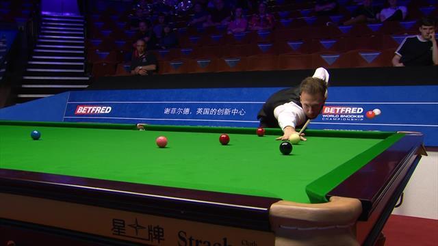 Judd Trump races to 100th century of season at World Snooker Championship