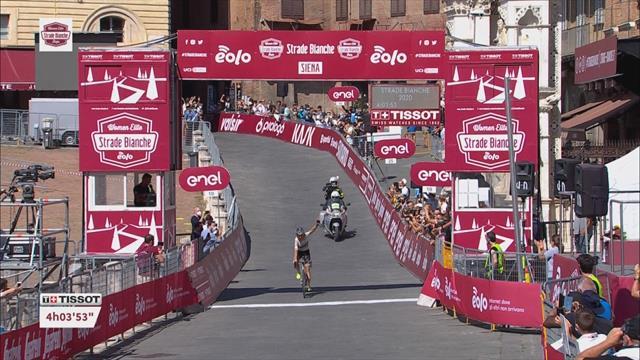 Strade Bianche femenina: Mavi García firma un gran segundo puesto en Italia
