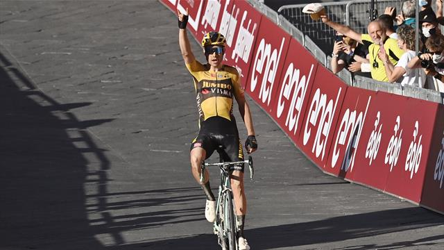 'What a ride!' - Wout van Aert soloes to glory in Strade Bianche