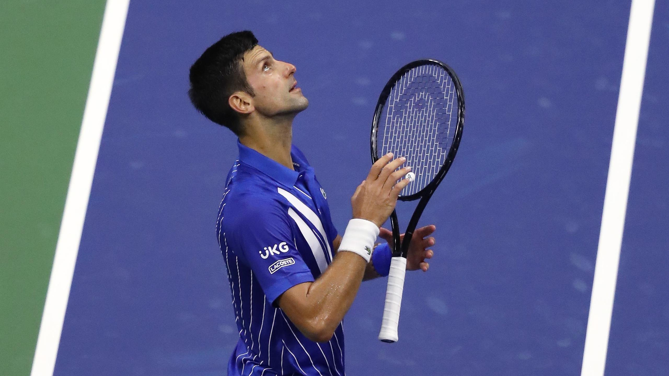Us Open 2020 Novak Djokovic Cruises Into Second Round With Victory Over Damir Dzumhur Eurosport